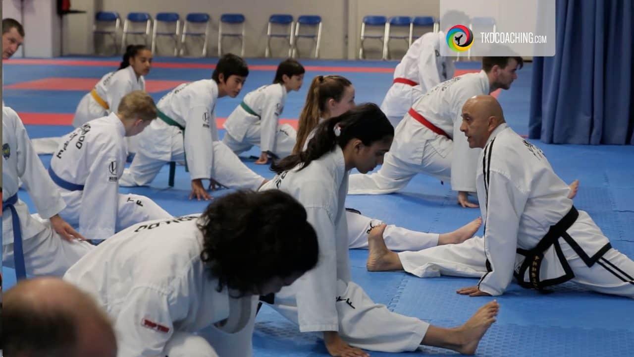 kicking stretching