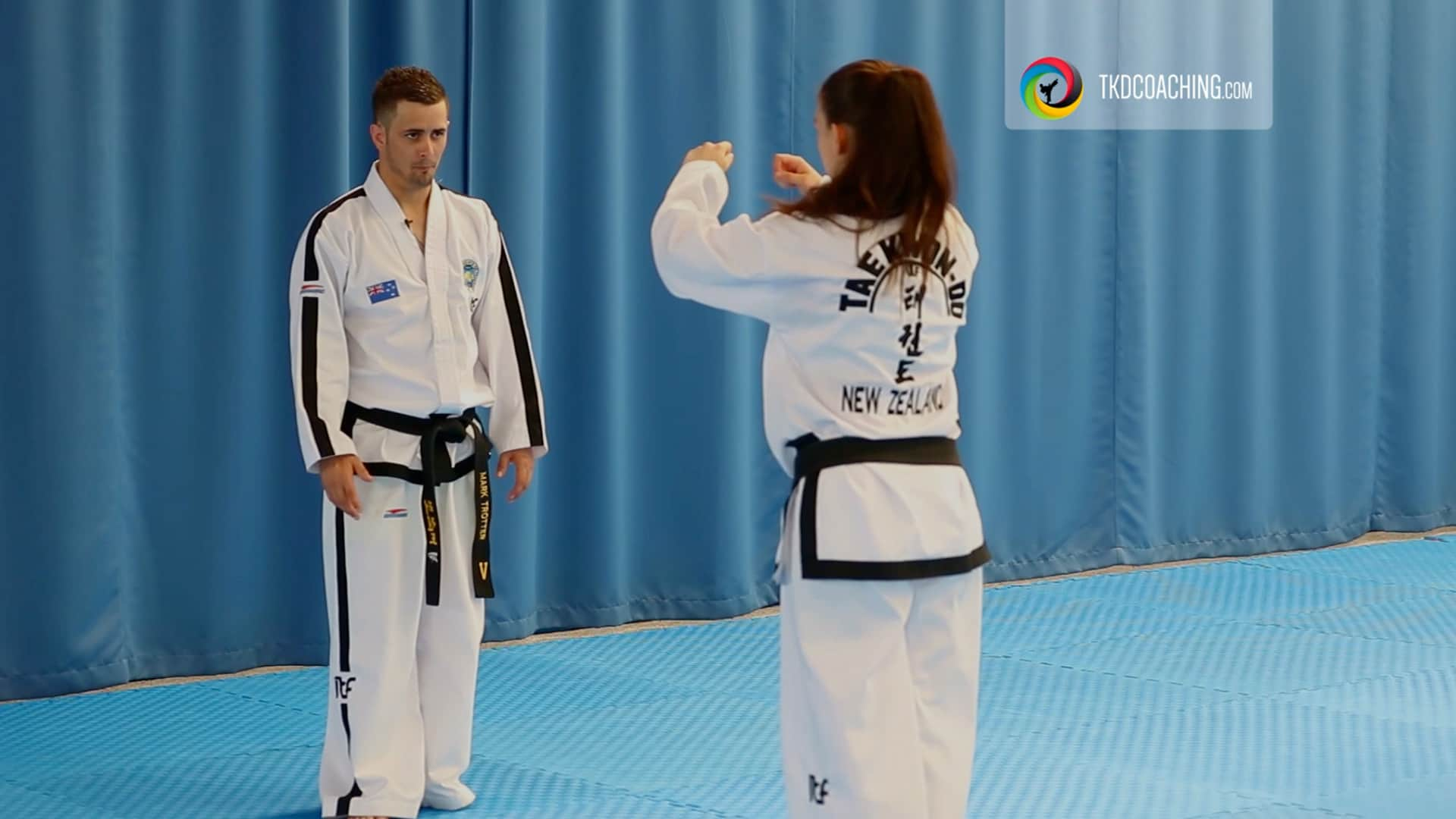 Choong-jang tul with Mark Trotter