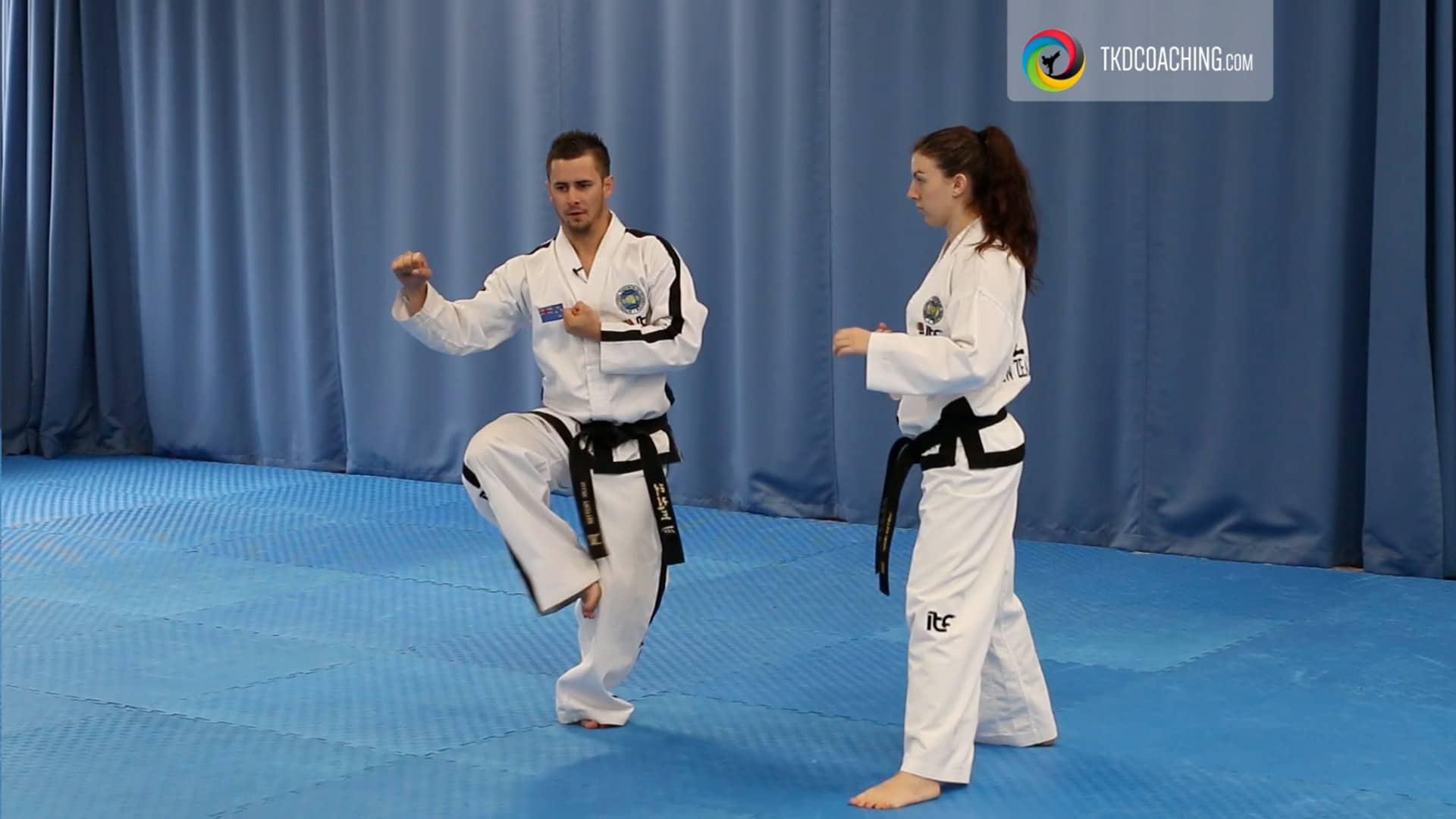 Choong-Moo bending ready stance