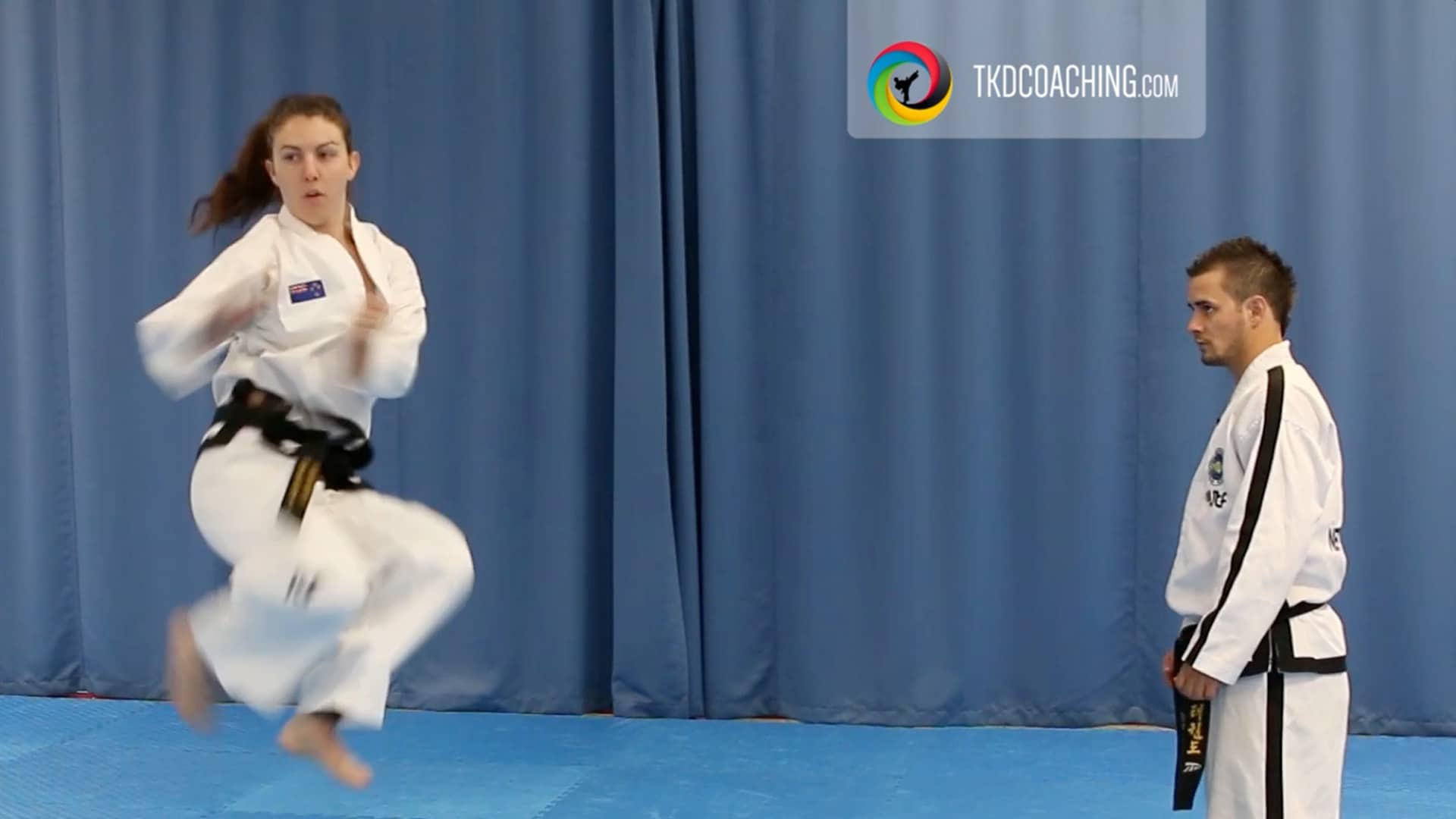 Choong-Moo flying side kick