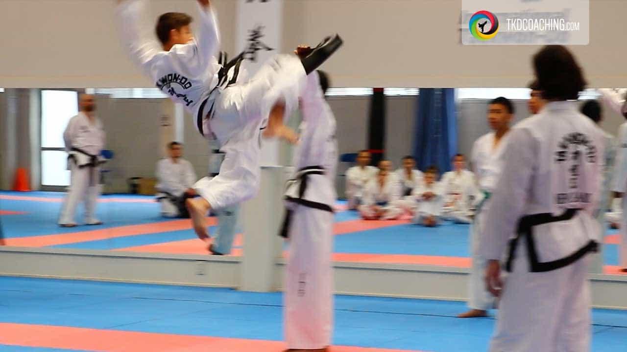 flying high kick