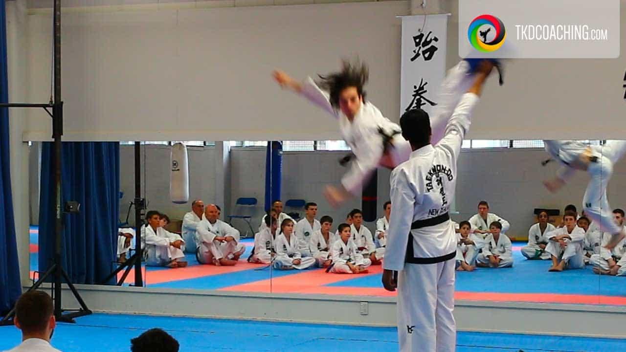 mid-air kick