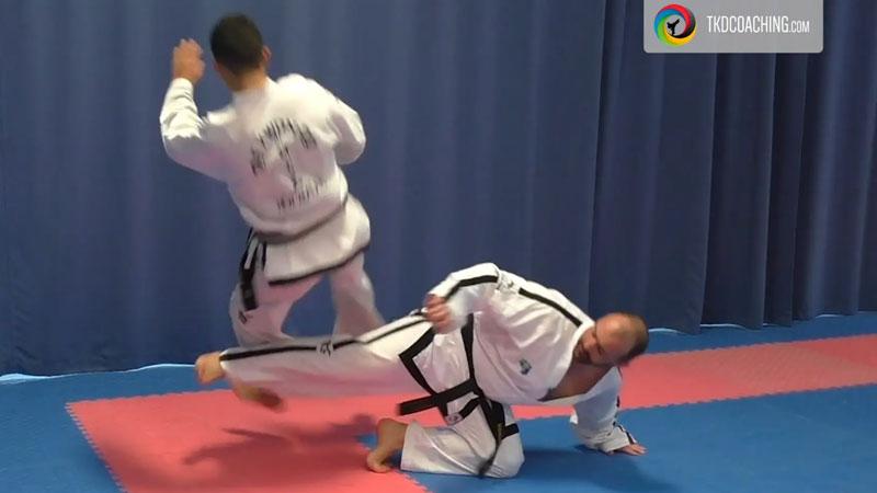 The back heel sweeping kick