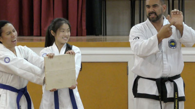 How to hold the boards for TKD Power Breaking